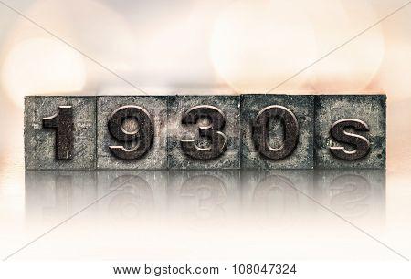 1930S Concept Vintage Letterpress Type