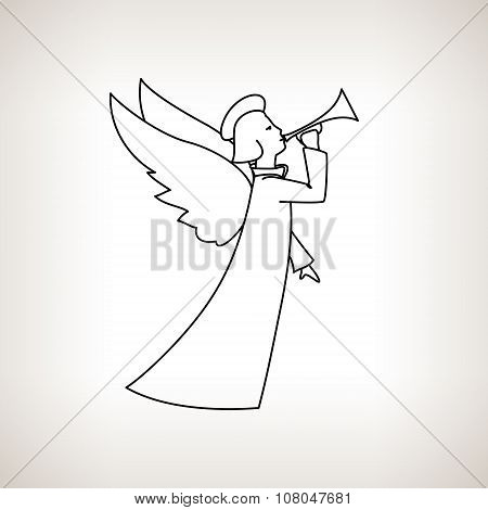 Christmas Angel On A Light Background