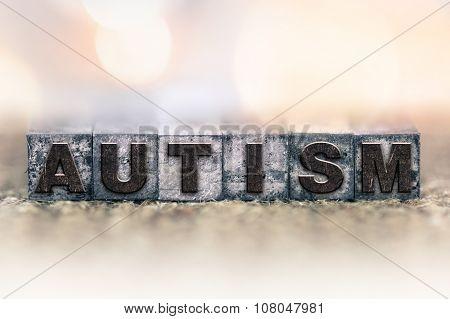 Autism Concept Vintage Letterpress Type