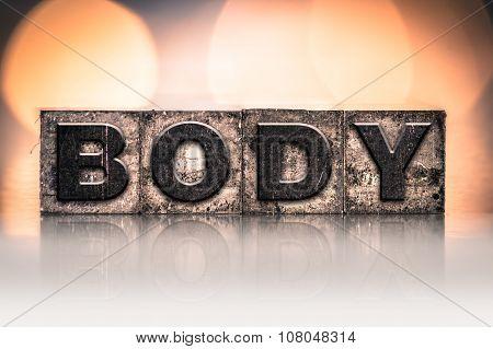 Body Concept Vintage Letterpress Type