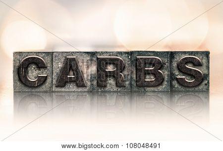 Carbs Concept Vintage Letterpress Type