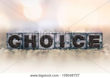 Choice Concept Vintage Letterpress Type