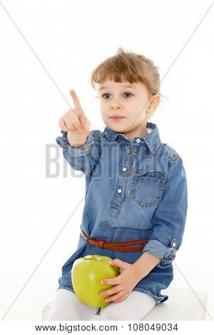 Little Child With An Apple.