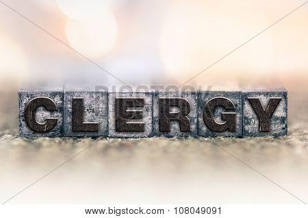 Clergy Concept Vintage Letterpress Type