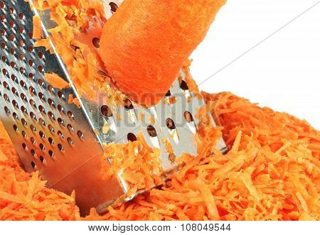 Carrot And Grater For Vegetables
