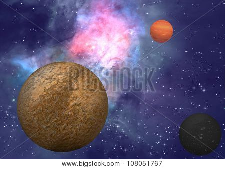 Far-out Planets In A Space
