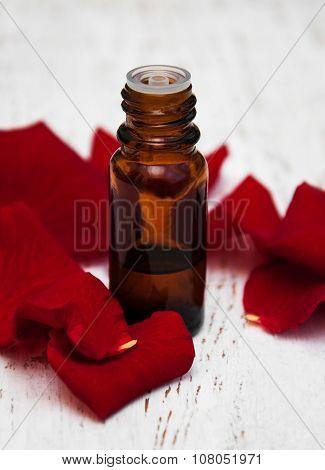 Essential Oil And Rose Petals