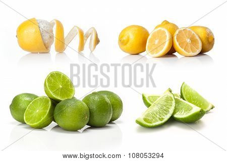 composite with Green lime and yellow lemon