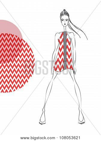 Model-red-pattern