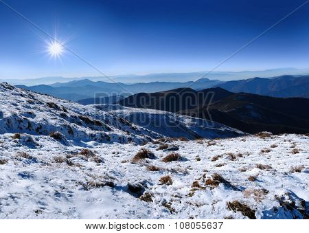 Landscape Carpathians Mountains