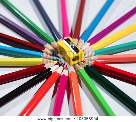 Color Pencils Set And Sharpener