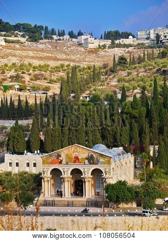 Church of All Nations at the foot of the Mount of Olives. East Jerusalem