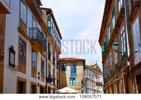 Santiago de Compostela end of Saint James Way in Galicia Spain