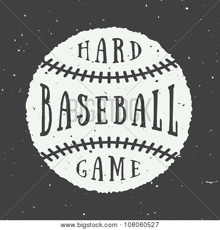 Vintage Baseball Logo, Emblem, Badge. Vector Illustration