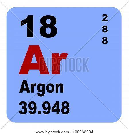 Periodic Table of Elements: No. 18 Argon
