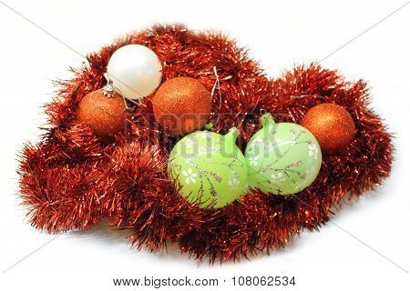 Christmas bright colorful decorations
