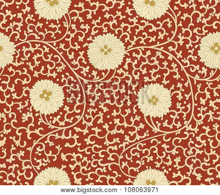 Chinese seamless pattern. Vintage
