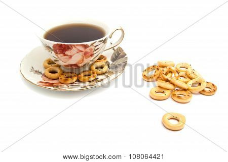 Some Bagels And Cup Of Tea