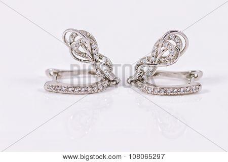 Silver Earrings In The Shape Of  Horseshoe