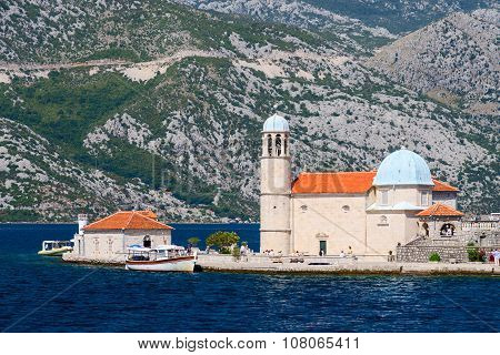 Church On The Island Of Virgin Mary On The Reef (the Island Of Our Lady Of The Rocks), Montenegro