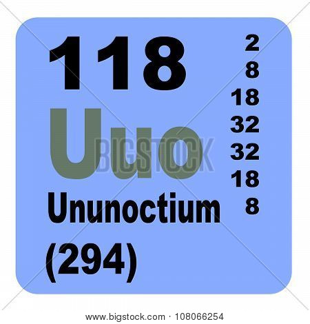 Periodic Table of Elements: No. 118 Ununoctium