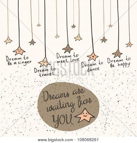 Postcard with stars