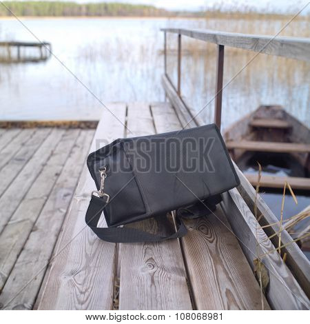 Abandoned Black Bag