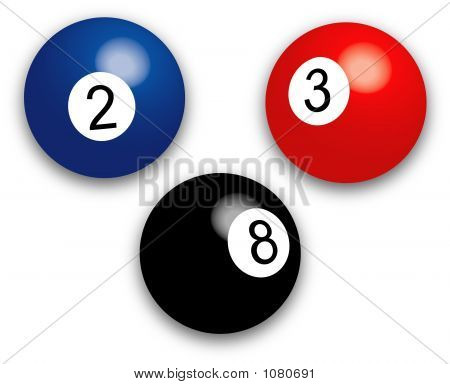 Pool Balls - Vector Illustration
