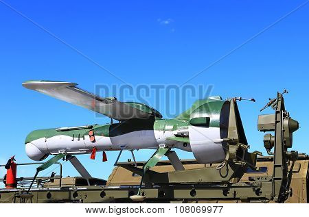 MOSCOW REGION  -   JUNE 17: Unmanned aerial vehicle -  an aircraft without crew on board   -  on June 17, 2015 in Moscow region