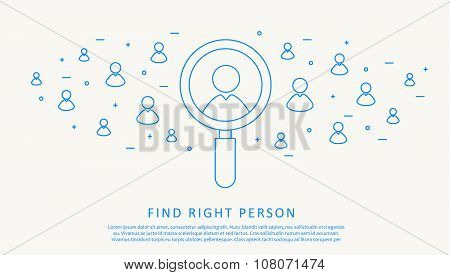 find right person thin blue line design
