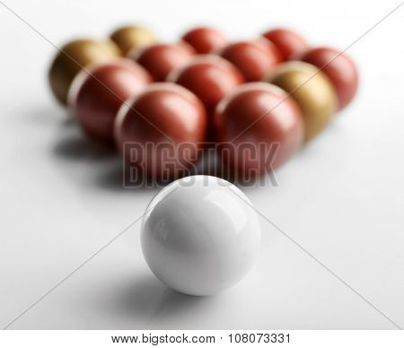 Balls isolated on white, individuality concept