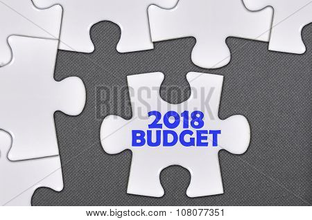 The White Jigsaw Puzzle Written Word 2018 Budget