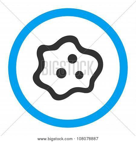 Amoeba Rounded Glyph Icon