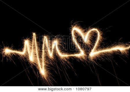 Wave Heart Sparkler