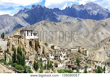Panoramic view of Lamayuru monastery in Ladakh, India.