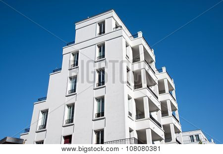 New white apartment building