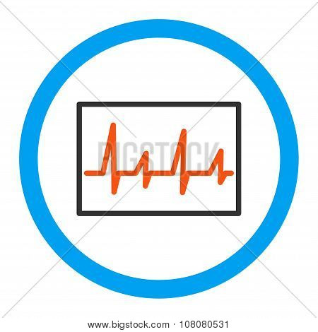 Cardiogram Rounded Glyph Icon