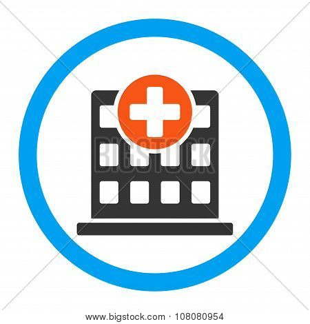 Clinic Rounded Glyph Icon