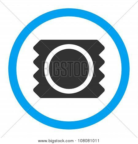 Condom Rounded Glyph Icon