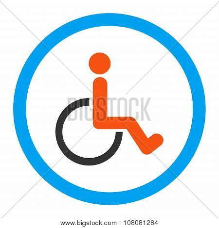 Disabled Person Rounded Glyph Icon