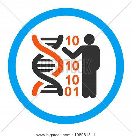 DNA Code Report Rounded Glyph Icon