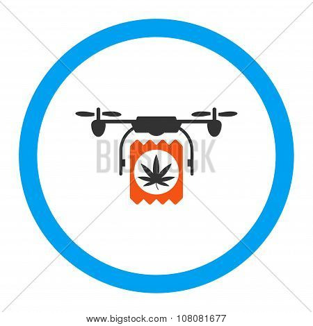 Drugs Drone Delivery Rounded Glyph Icon