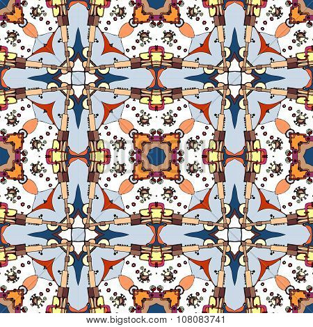 Seamless Fantastic Pattern. Abstract Geometric Background. Vector Illustration.