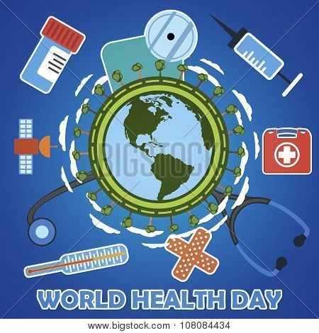World Health Day Concept. Vector