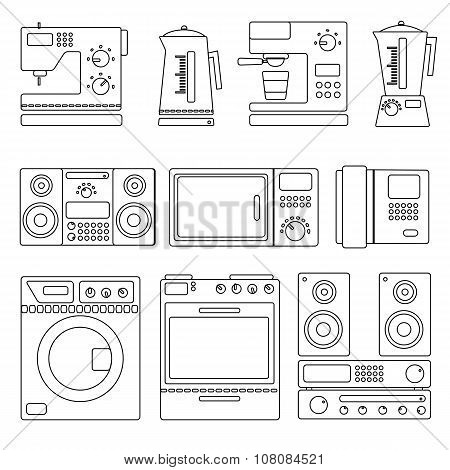 Icons Of Home Appliances