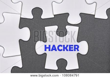 Jigsaw Puzzle Written Word Hacker