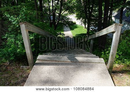 Stairway Down the Bluff