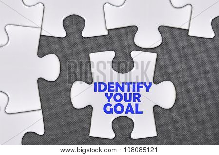 The White Jigsaw Puzzle Written Word Identify Your Goal