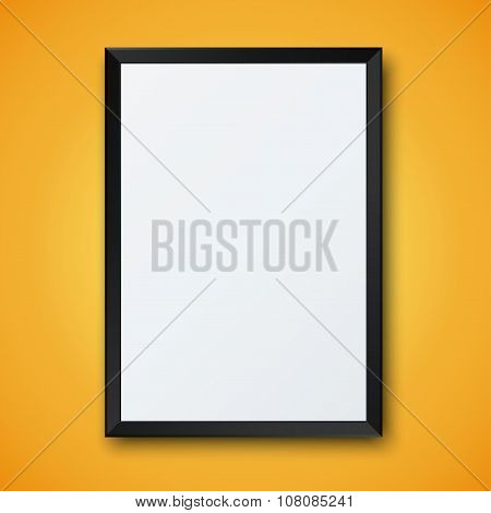Vector modern frame with shadow