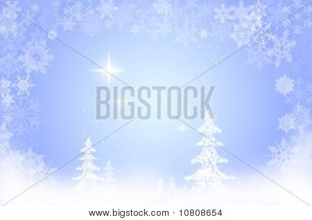 Xmas snow scene